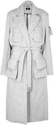 Natasha Zinko X DUO Light Grey Studded Jersey Coat
