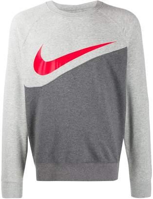 Nike two-tone swoosh logo sweatshirt