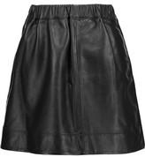 IRO Alba Wrap-Effect Leather Mini Skirt