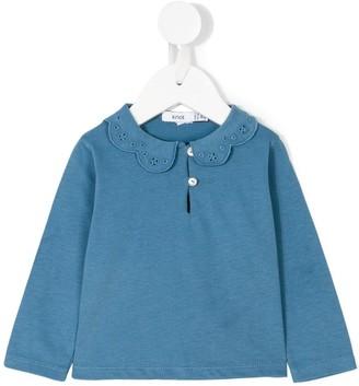 Knot Floral Collar Polo Shirt