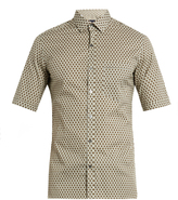 Lanvin Geometric floral-print short-sleeved cotton shirt