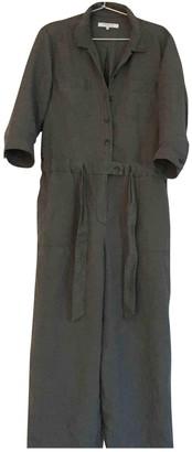 Gerard Darel Khaki Linen Jumpsuit for Women