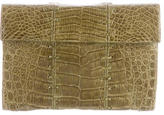 Nancy Gonzalez Stitched Alligator Clutch