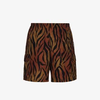 Palm Angels Tiger print swim shorts