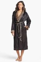 Giraffe at Home Women's Faux Fur & Satin Robe