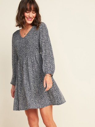 Old Navy Smocked-Bodice Fit & Flare Dress for Women