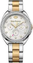 Juicy Couture Capri Silver Multi Tone Dial Two Tone Bracelet Ladies Watch