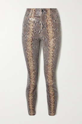 RtA Madrid Snake-effect Leather Skinny Pants - Snake print