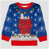 Peanuts Toddler Boys' Snoopy Holiday Sweatshirt - Electric Blue