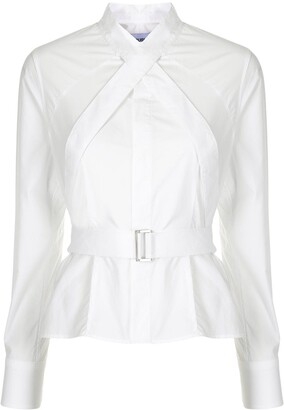 Ambush Strap Detail Cotton Shirt