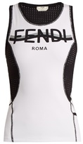 Fendi Mesh stretch-fabric tank top