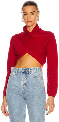 GAUGE81 Nelson Cropped Wrap Top in Red   FWRD