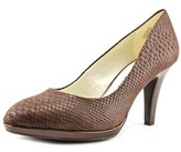 Anne Klein Lolana Round Toe Leather Heels.