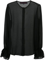 Martin Grant ruffle sleeve shirt - women - Silk - 36