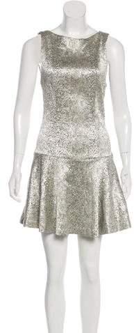 Alice + Olivia Metallic Textured Dress