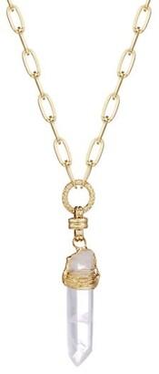 Gas Bijoux Cristal 24K Gold-Plated & Quartz Crystal Necklace