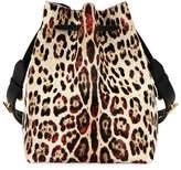 Tom Ford Edge Leopard-Print Calf Hair Hobo Bag