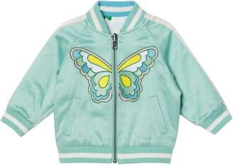 Stella McCartney Kids Reversible Satin Bomber Jacket