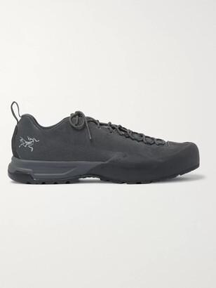 Arc'teryx Konseal AR Rubber-Trimmed Nubuck Hiking Sneakers - Men - Gray
