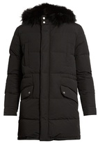 Yves Salomon Fur-lined Quilted-canvas Coat