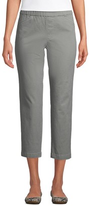 Lands' End Petite Pull-On Chino Crop Pants