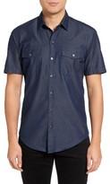 BOSS Men's Robb Double Pocket Denim Sport Shirt