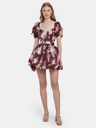 LoveShackFancy Hansel Mini Puff Sleeve Dress