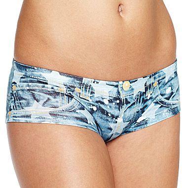 JCPenney Flirtitude® Faux-Denim Hipster Panties