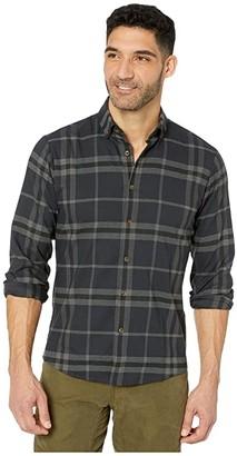 Mizzen+Main Proctor Performance Flannel Shirt (Navy) Men's Clothing