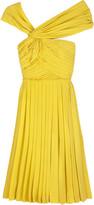 Silk pleated Grecian dress