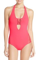 Becca Halter One-Piece Swimsuit
