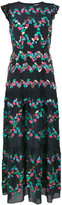 Peter Pilotto Embroidered tiered dress - women - Silk/Polyester - 8