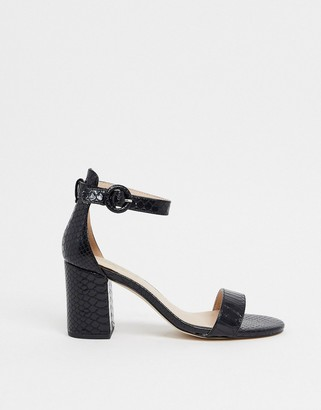Miss KG giselle block heel barely there sandals in black