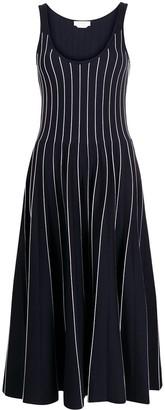 Gabriela Hearst Zeleia stripe-embroidered midi dress