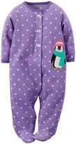 Carter's Dotted Footie (Baby)-Penguin-9 Months