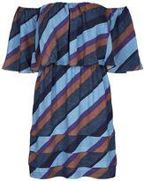 Vix Striped Off Shoulder Dress