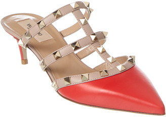 Valentino Rockstud Leather Mule