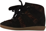 Isabel Marant Anthracite Suede Trainers BOBBY