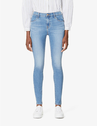 J Brand Ladies Blue Cotton Maria Skinny High-Rise Jeans, Size: 23