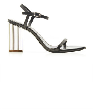 Proenza Schouler Leather Mirrored Block Heel Sandals