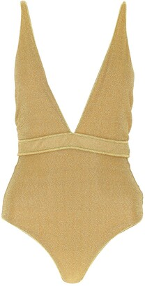 Oseree Plunging One-Piece Swimsuit