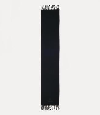 Vivienne Westwood Embroidered Lamb'S Scarf Black