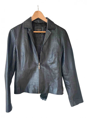 Christian Lacroix Black Leather Jackets