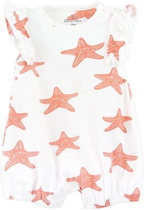 Oliver & Rain Starfish Coral Romper