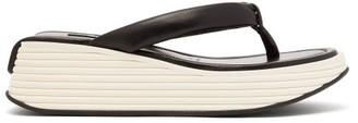 Givenchy Platform-sole Leather Flip-flops - Black White