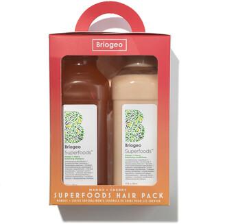 BRIOGEO Superfoods Mango and Cherry Balancing Shampoo and Conditioner Duo