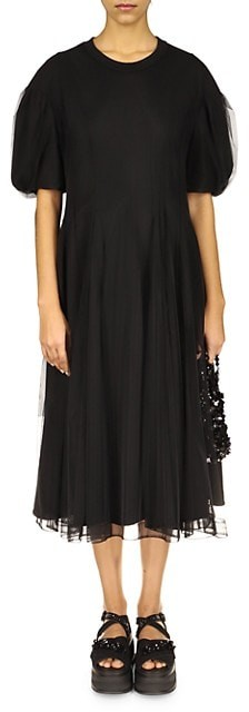 Thumbnail for your product : Simone Rocha Tulle Overlay Sculpted Dress