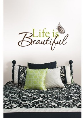 Brewster Home Fashions WallPops Life Is Beautiful Removable Wall Decals