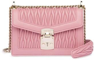 Miu Miu Miu Confidential matelasse leather shoulder bag