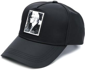 Karl Lagerfeld Paris Portrait Baseball Cap